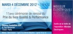 prix du livre qualité et perfomance animé par Paul-Emmanuel Géry